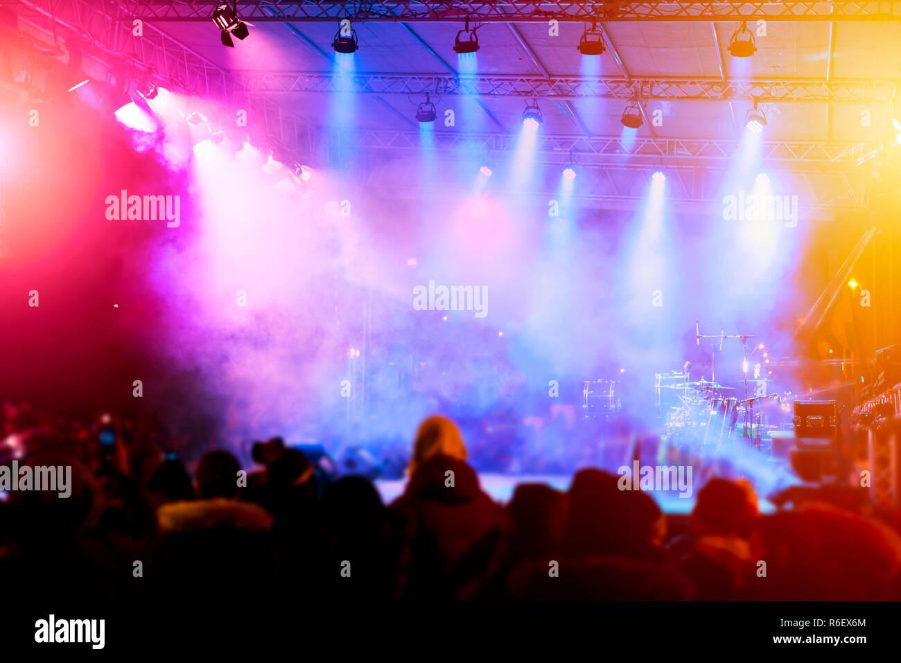 Defocused Entertainment Concert Lighting On Stage Entertainment