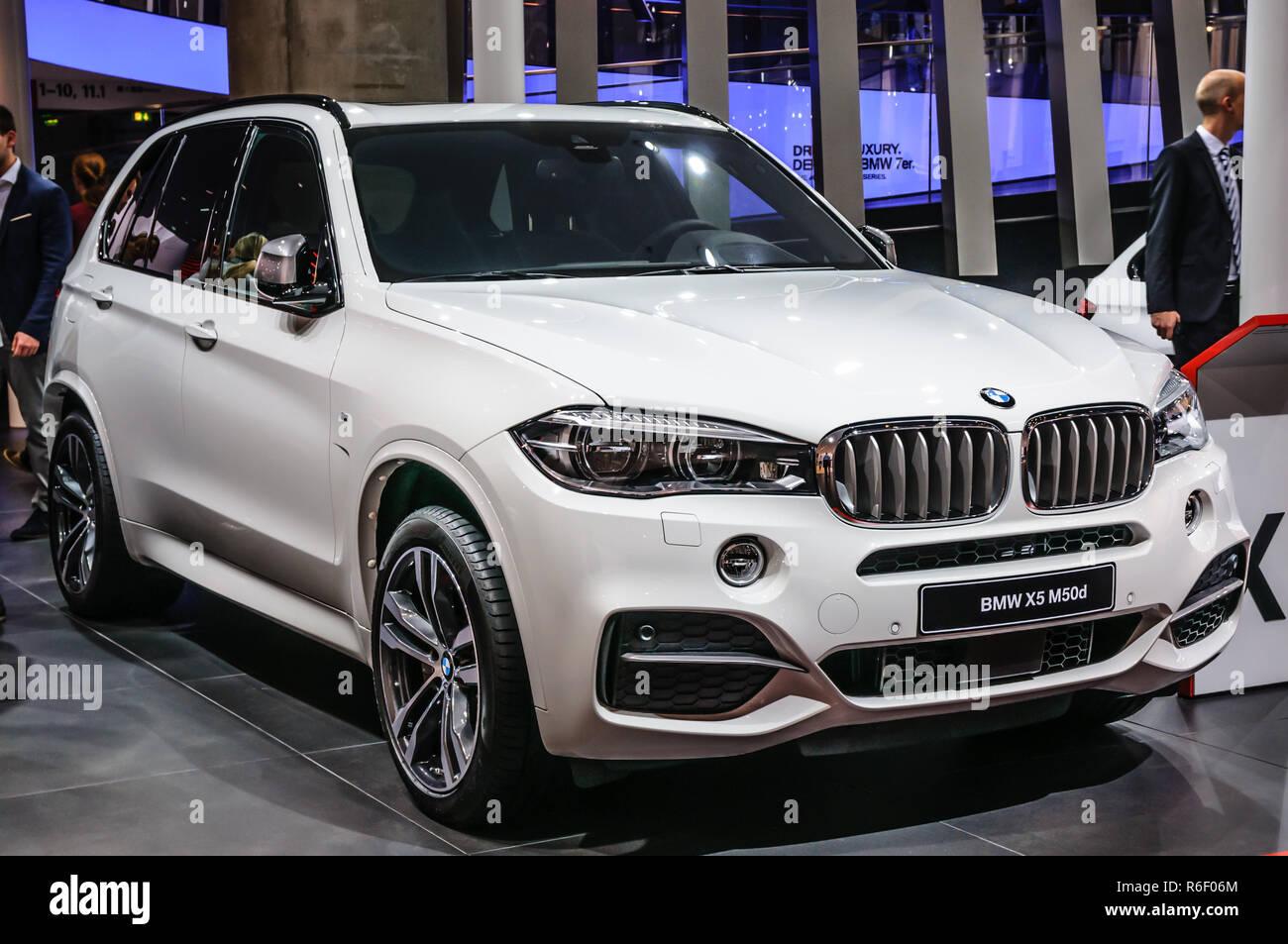 FRANKFURT - SEPT 2015: BMW X5 M50d presented at IAA International Motor Show on September 20, 2015 in Frankfurt, Germany - Stock Image