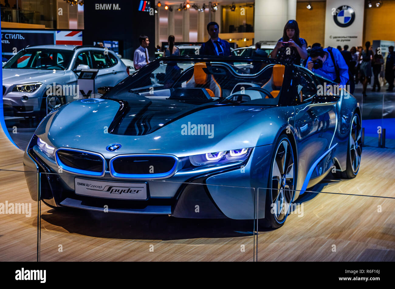 Blue Bmw I8 High Resolution Stock Photography And Images Alamy