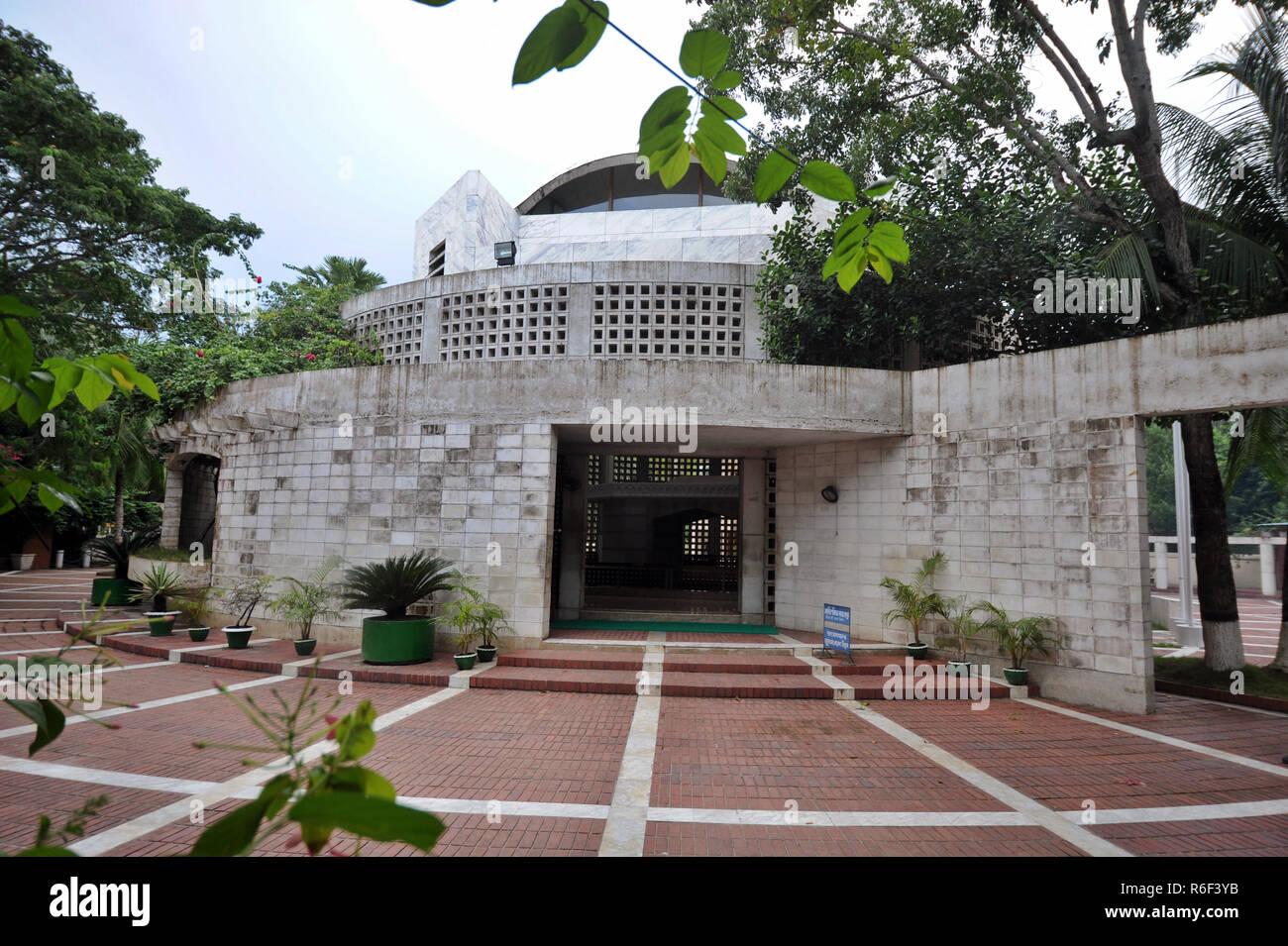 Gopalganj, Bangladesh - October 01, 2013: Mausoleum of father of the nation Bangabandhu Sheikh Mujibur Rahman at Tungipara in Gopalganj, Bangladesh. - Stock Image
