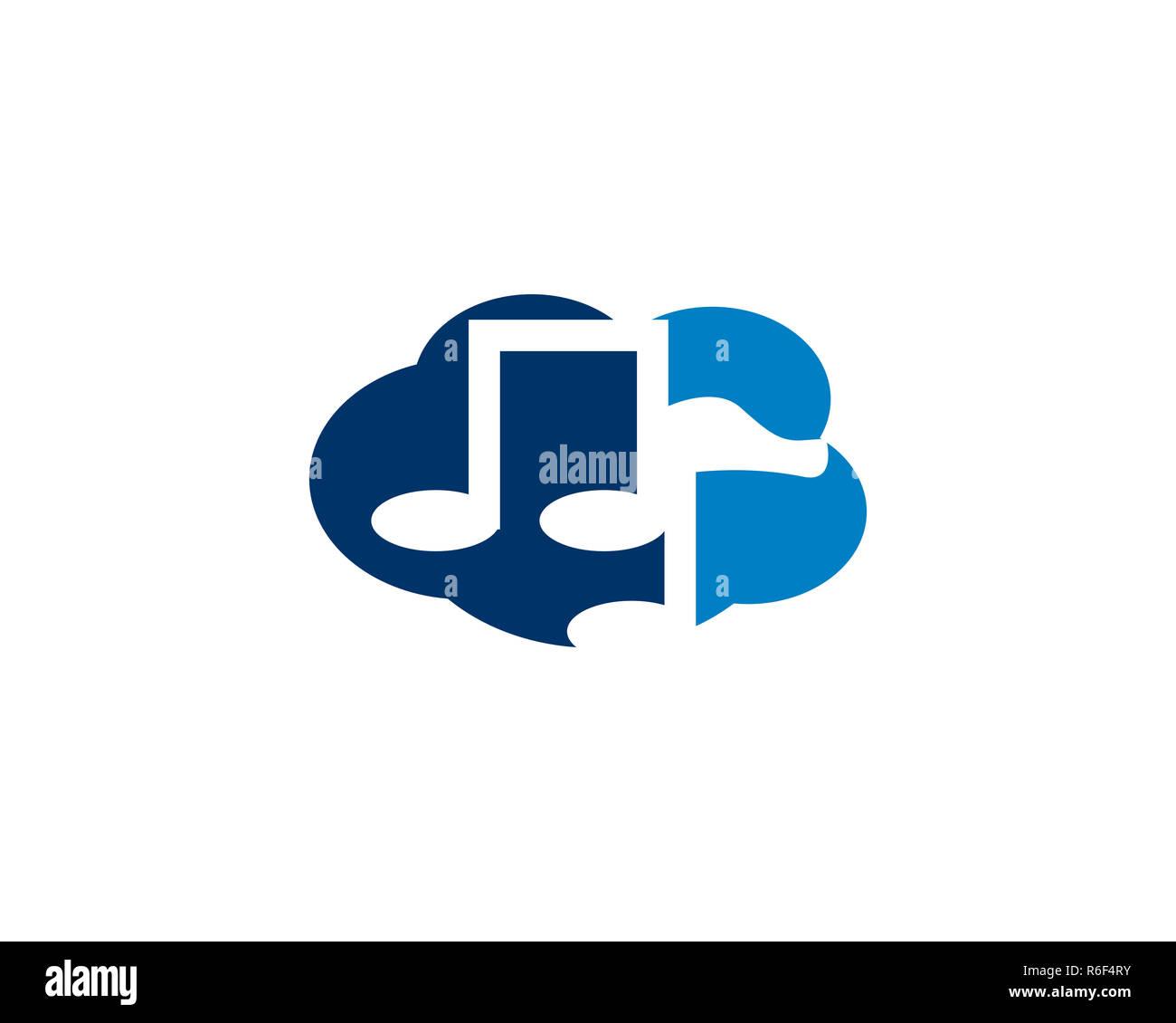 cloud music logo Stock Photo