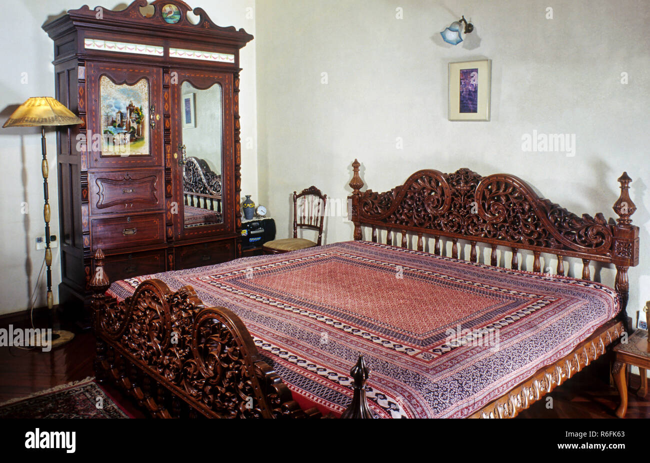 Bed Room, House Homes, India - Stock Image