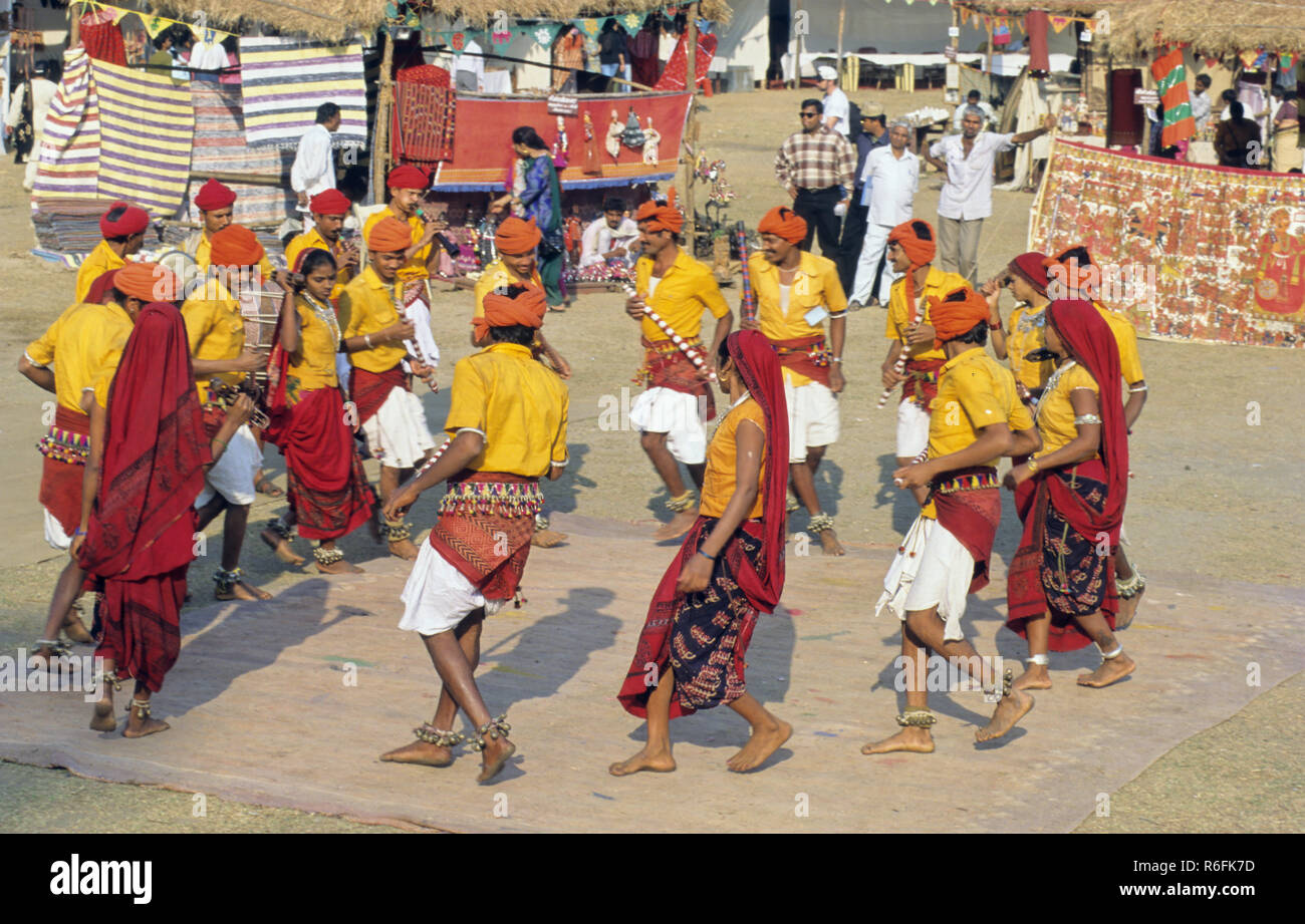 Folk Dance, Rajasthan, India - Stock Image