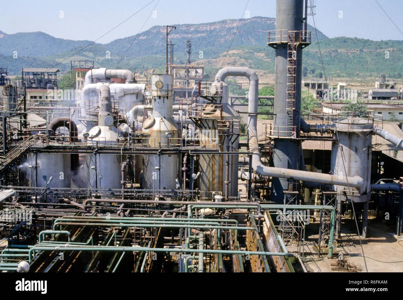 Hindustan Organic Chemicals Factory, india - Stock Image