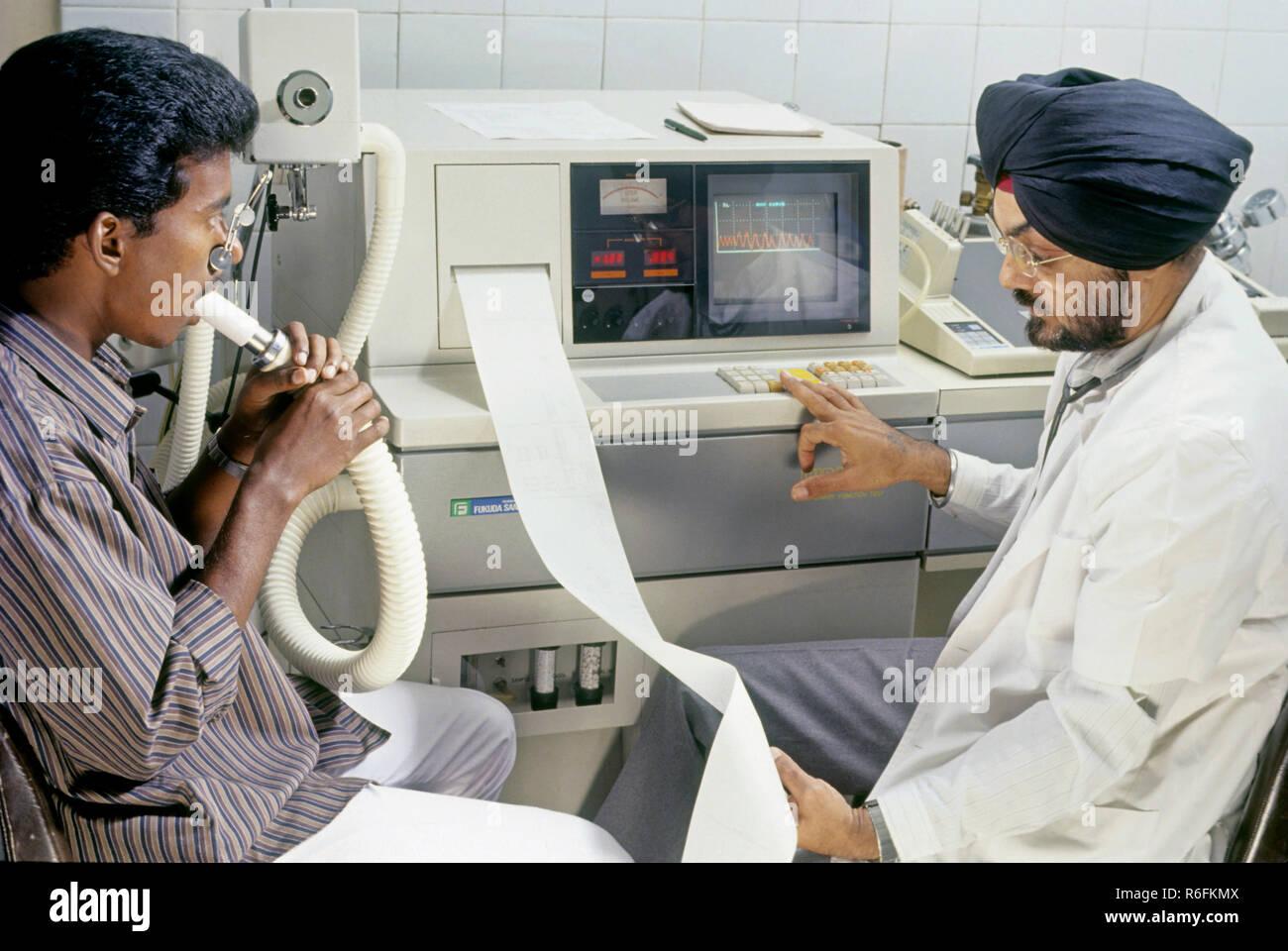 hospital, body testing, india - Stock Image