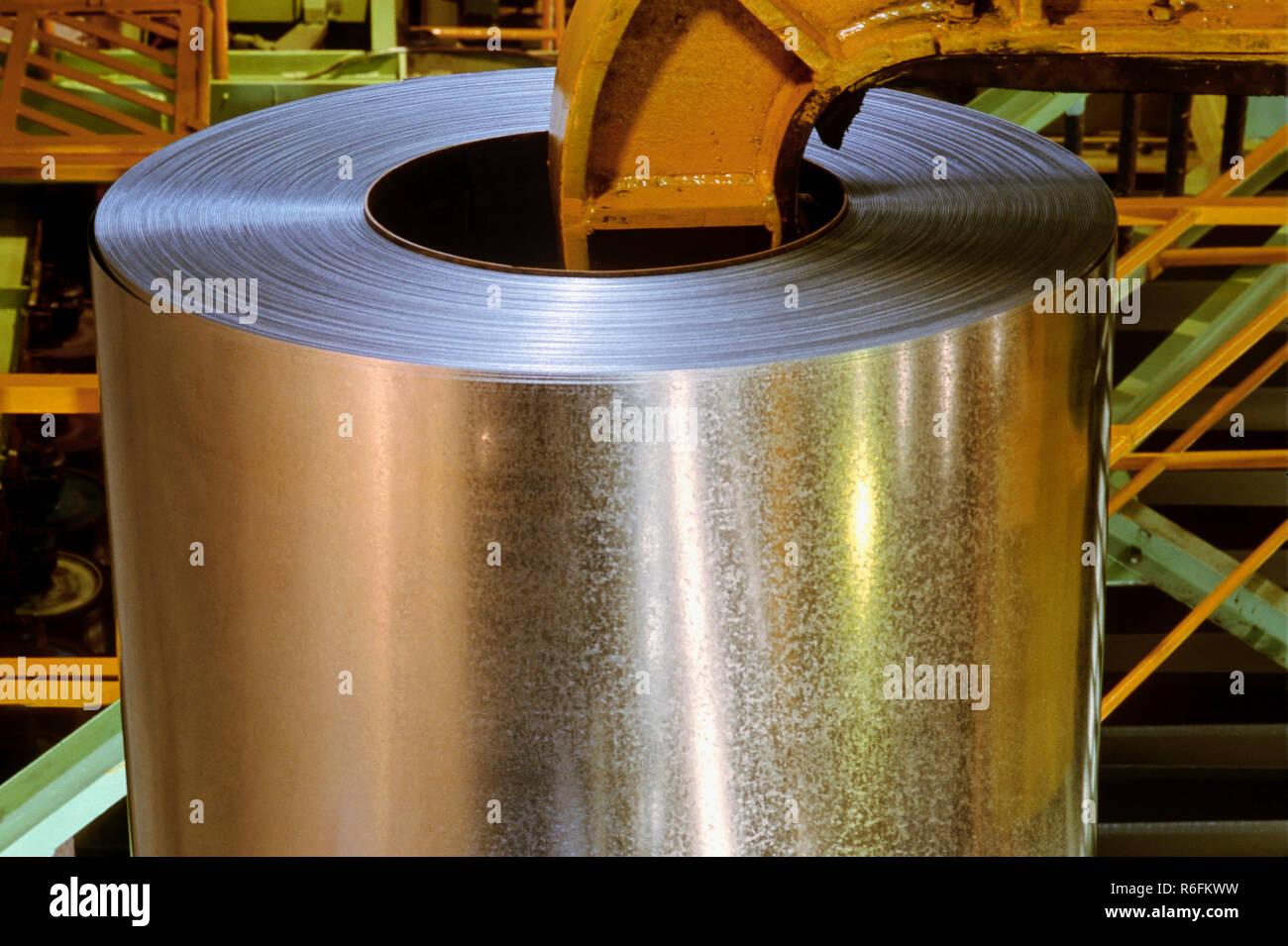 Galvanized steel sheet Stock Photo