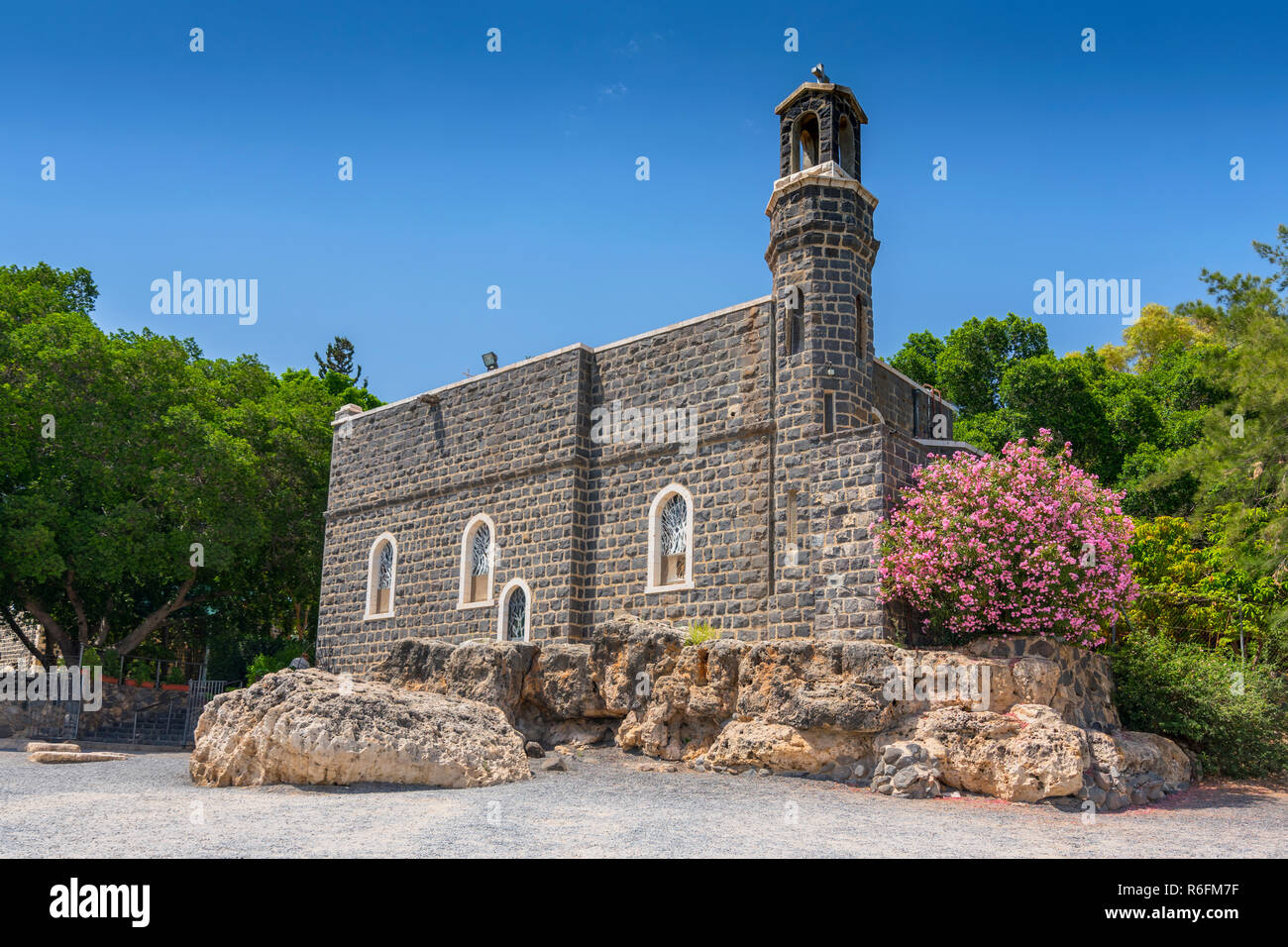 Church Of The Primacy Of St Peter In Tabgha, Galilee, Israel, Middle East - Stock Image