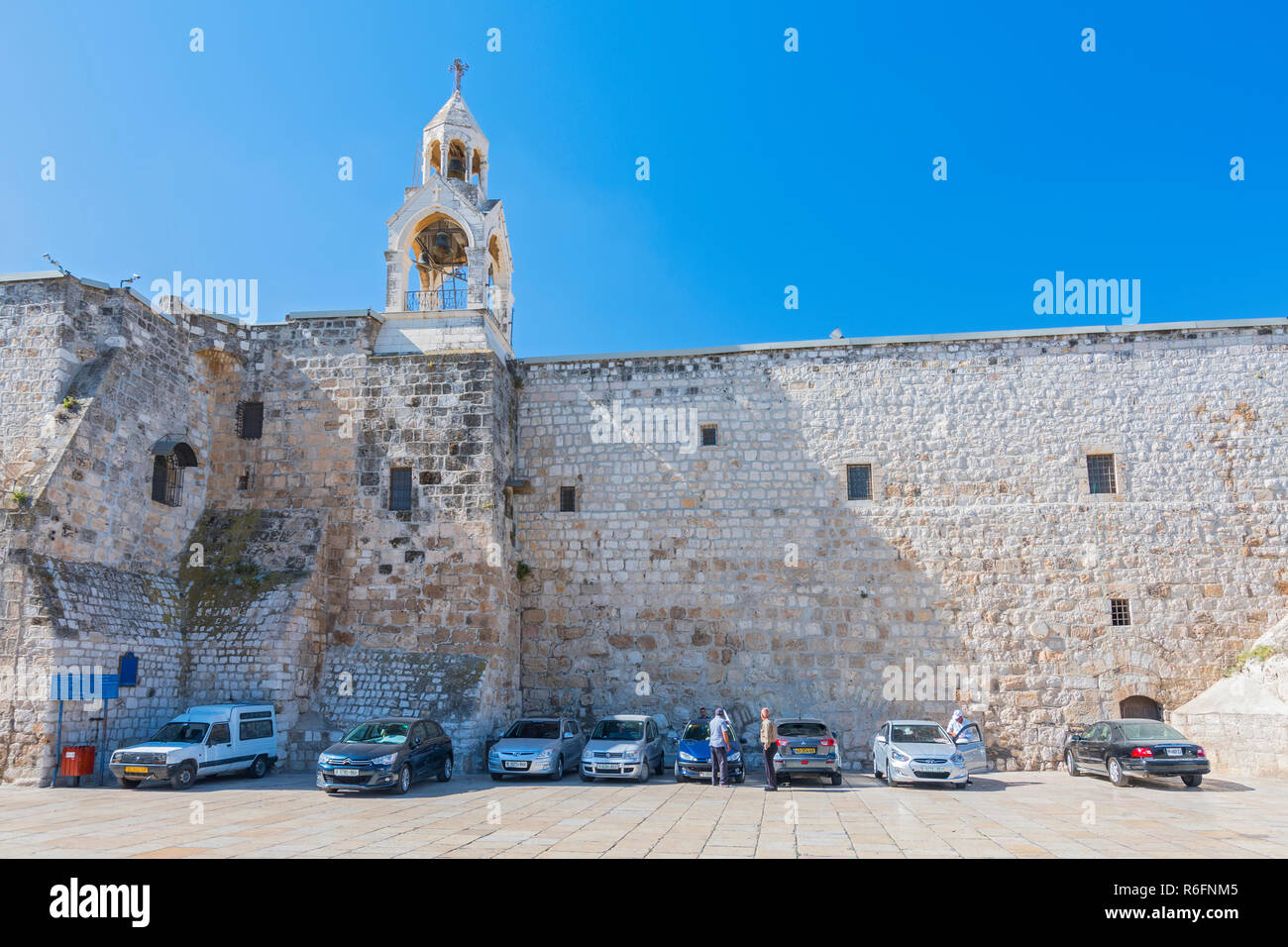 The Church Of The Nativity In Manger Square, Bethlehem, Palestine It Takes Its Name From The Manger Where Jesus Is Said To Have Been Born Which, Accor - Stock Image
