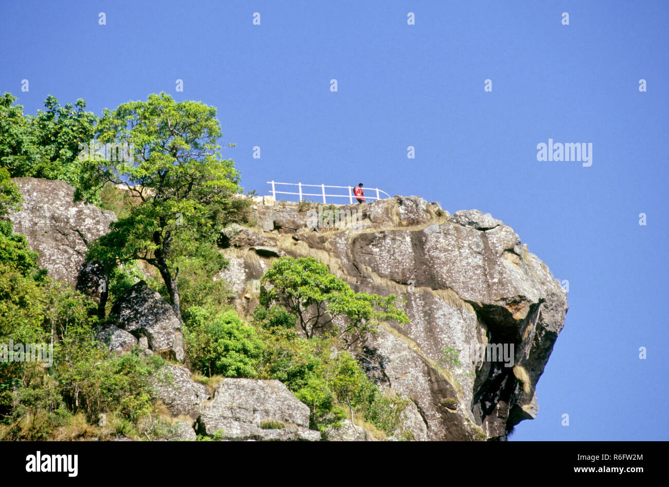 Dolphin's Nose the urge to linger to stand and stare boundless, coonoor, tamil nadu, india - Stock Image