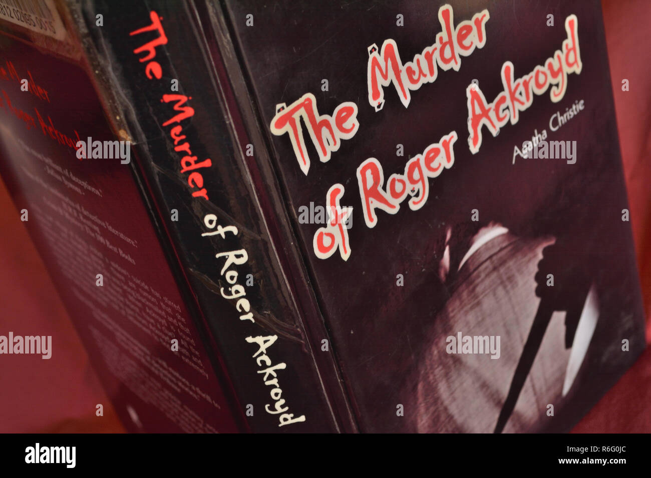 Agatha Christie's murder mystery novel 'The Murder of Rodger Ackroyd' had many covers, including this one from 2003. - Stock Image
