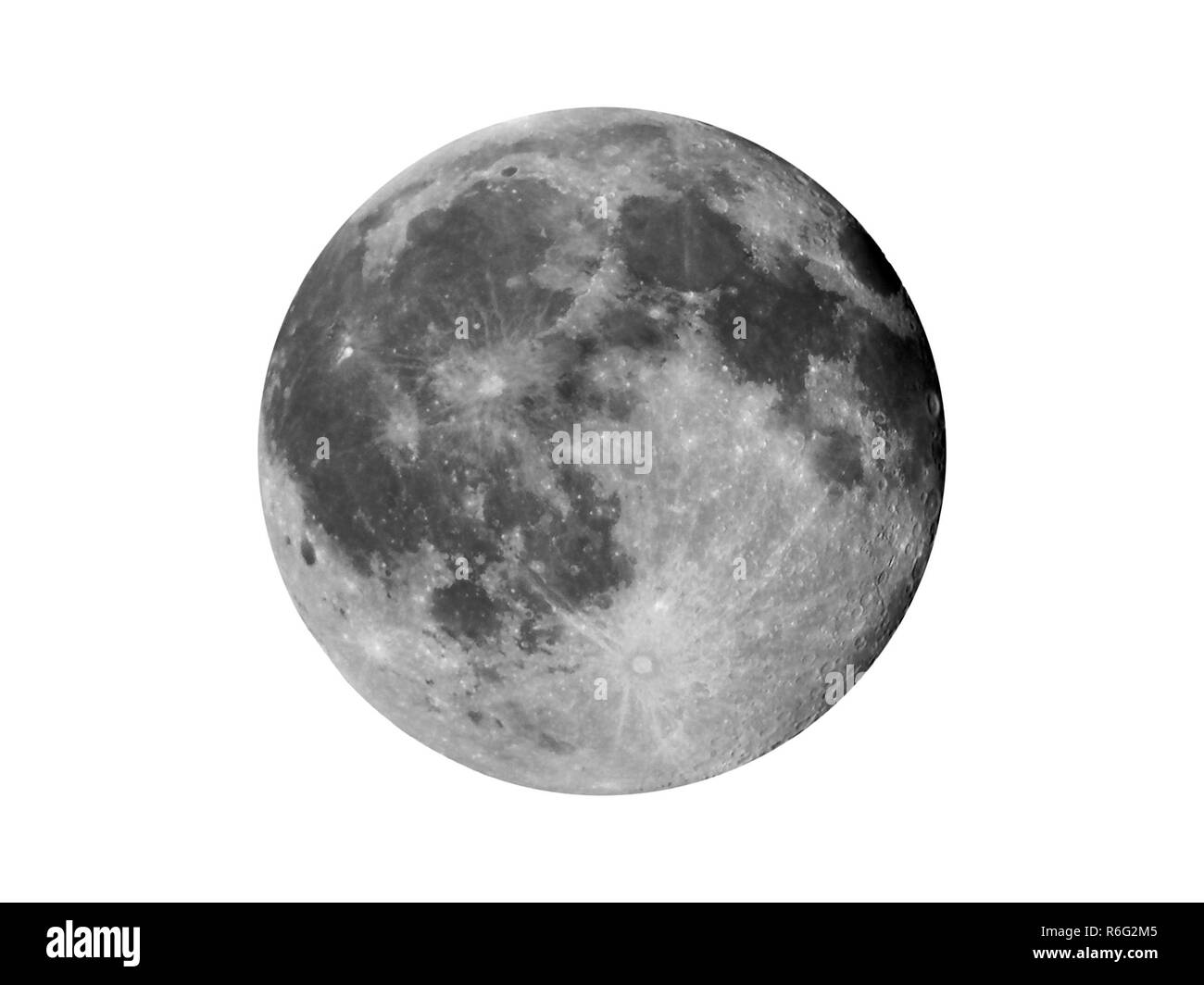 High contrast Full moon - Stock Image