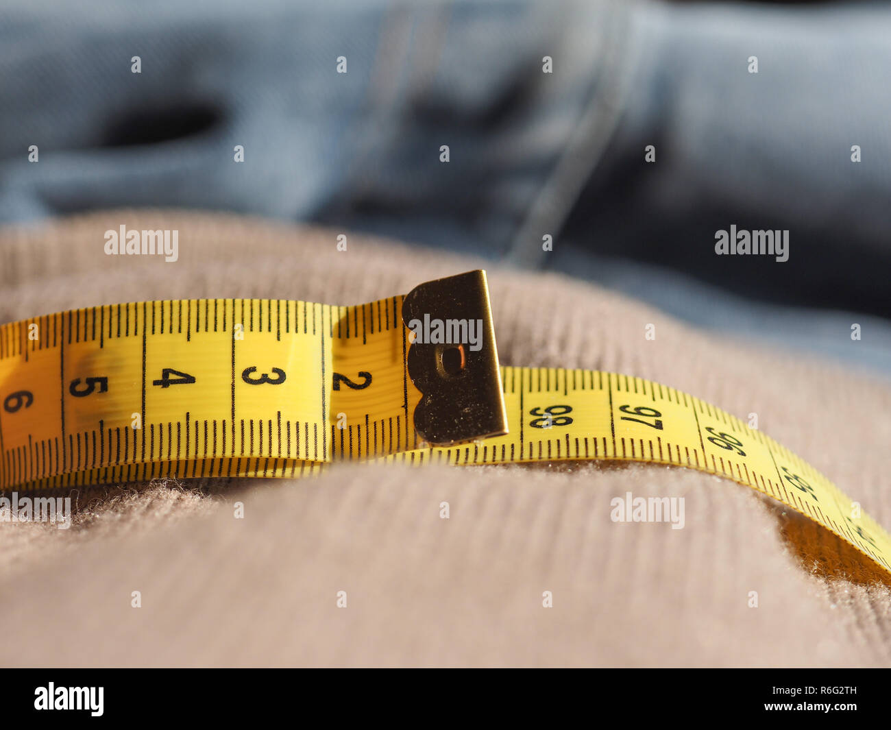 tailor meter ruler - Stock Image