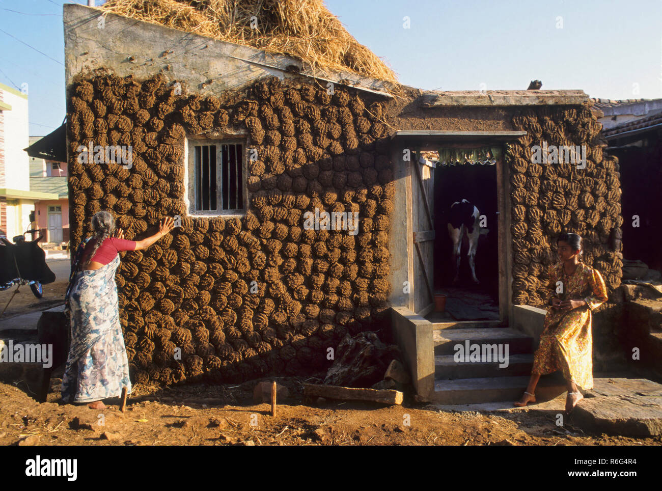 Image result for cow dung tamil houses