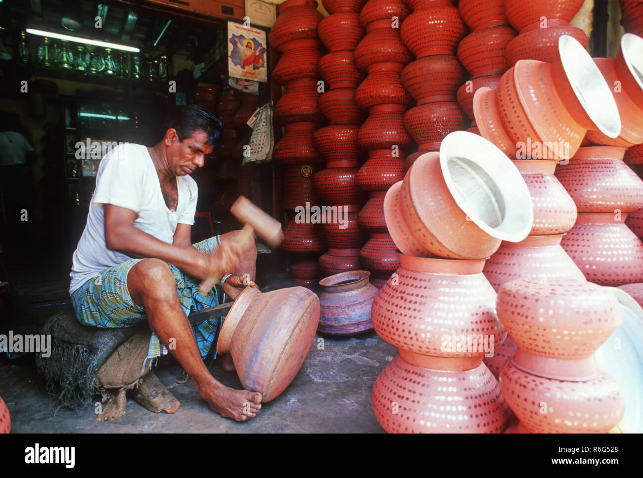Handicrafts - Copper Vessels - Stock Image
