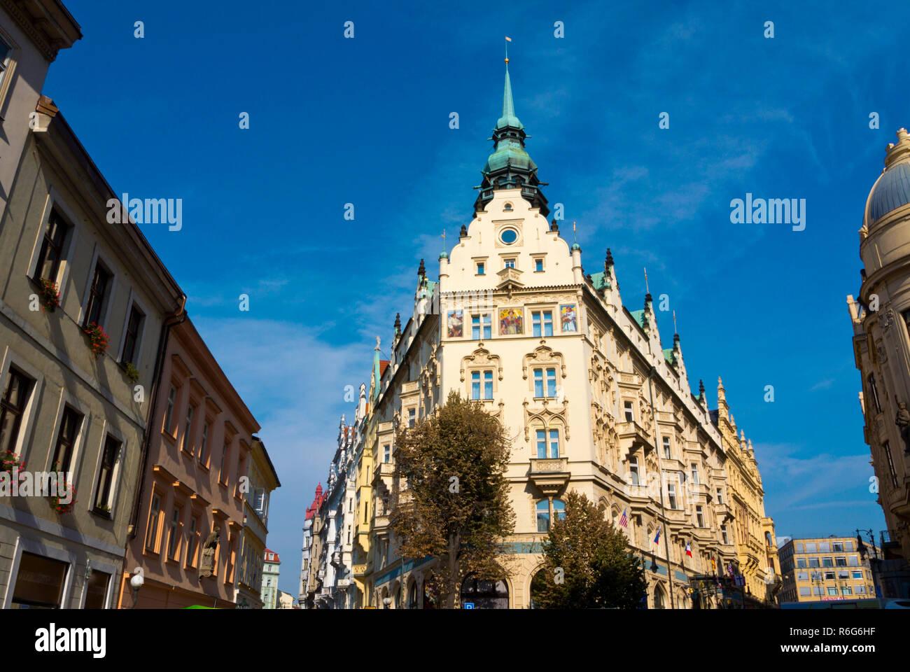 Hotel Paris Prague, in a building from 1904, old town, Prague, Czech Republic - Stock Image