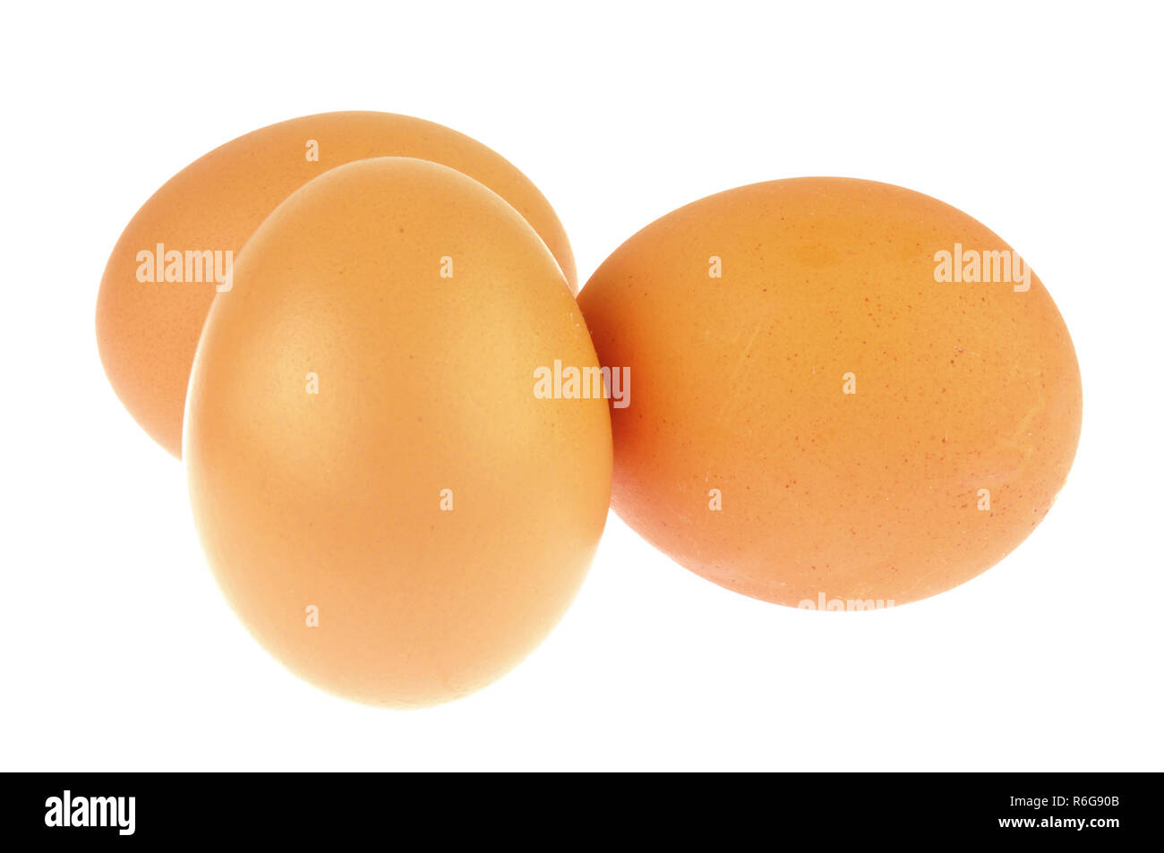 Brown eggs - Stock Image