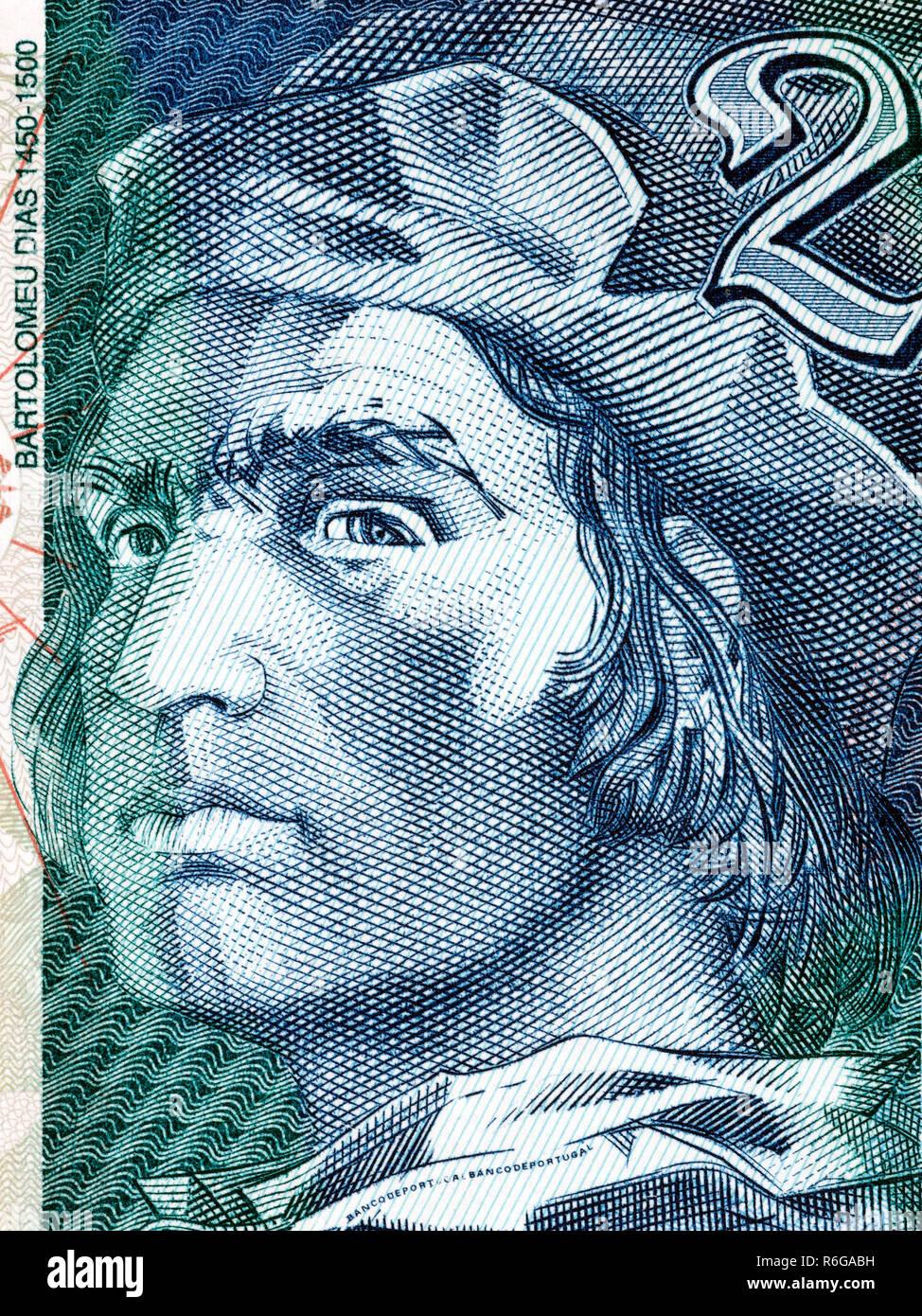 Bartolomeu Dias portrait - Stock Image