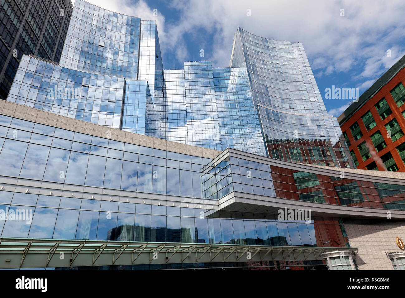 Wide-angle view of the InterContinental Hotel,  Boston, USA Stock Photo
