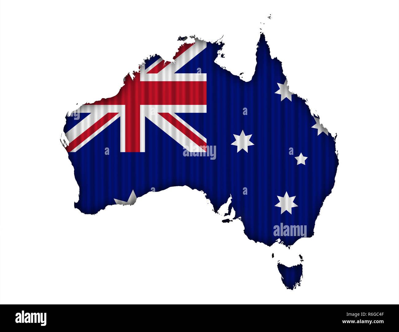 Australia Map In R.Map Of Australia On Texture R Stock Photo 227783487 Alamy