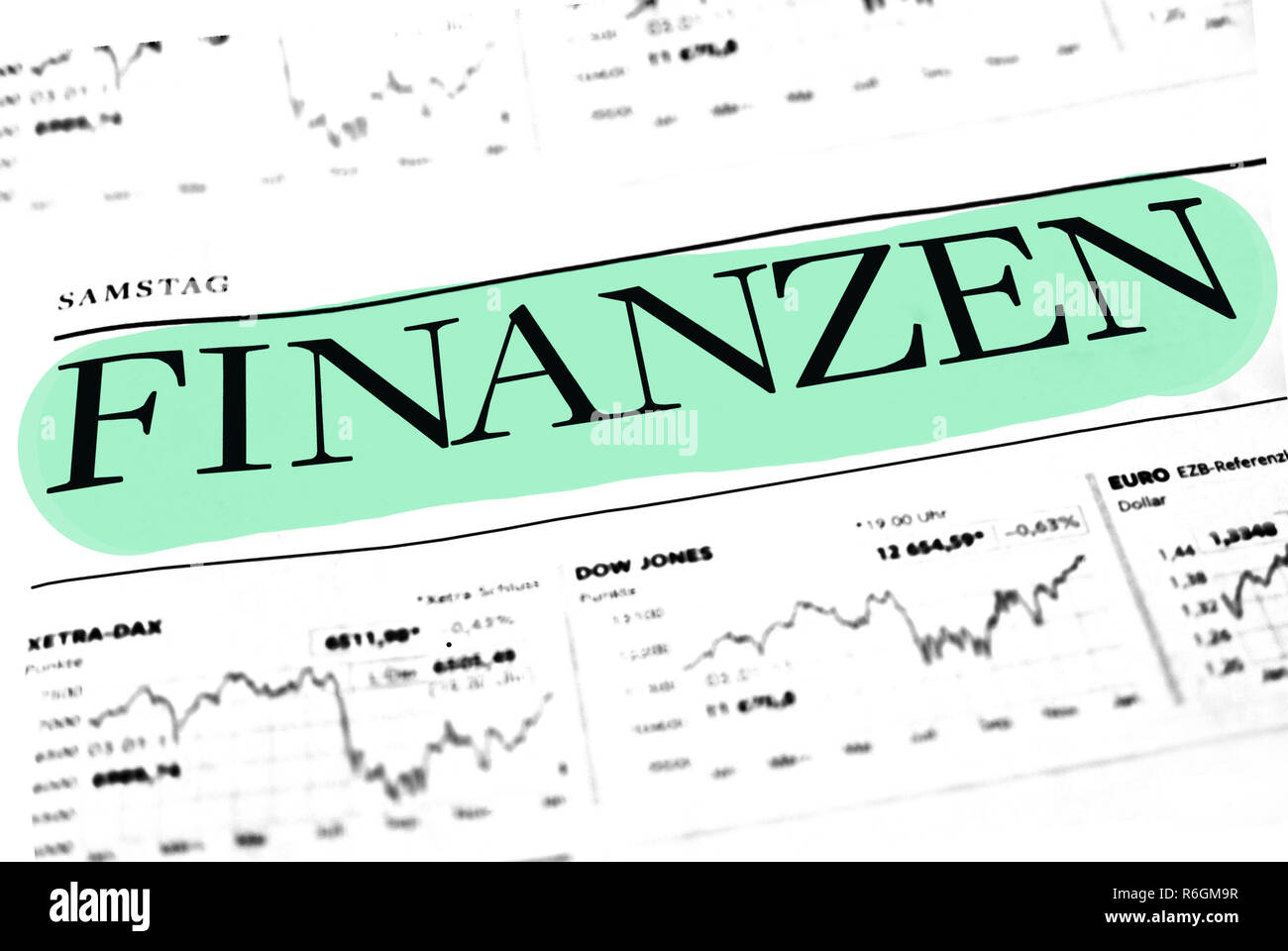 Finance report on the world - Stock Image