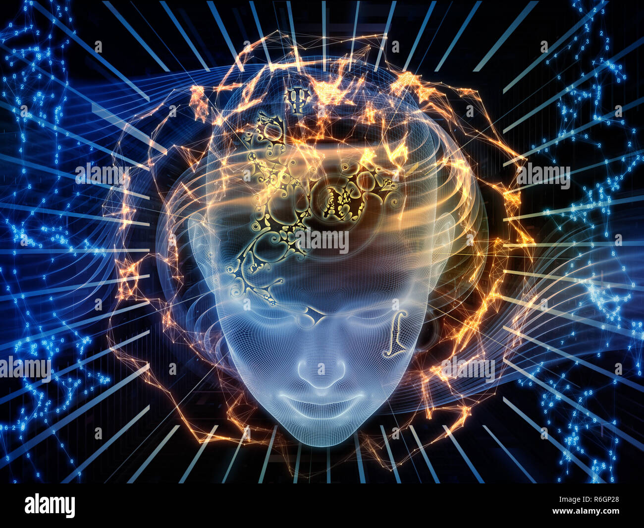 Virtual Mind - Stock Image