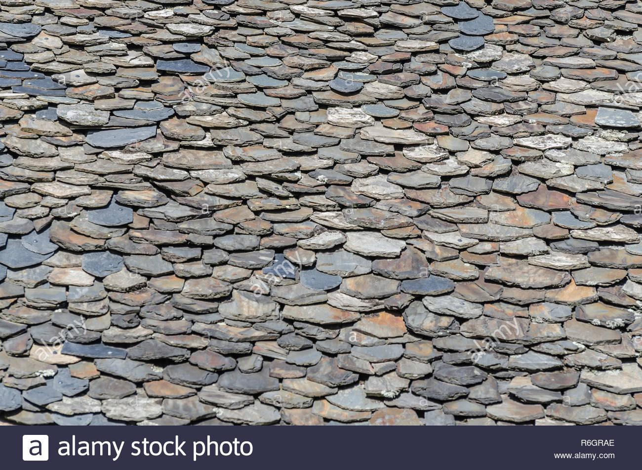 old shingle roof - Stock Image