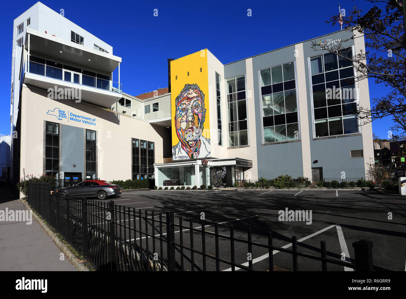 Department of Motor Vehicles downtown Yonkers New York - Stock Image