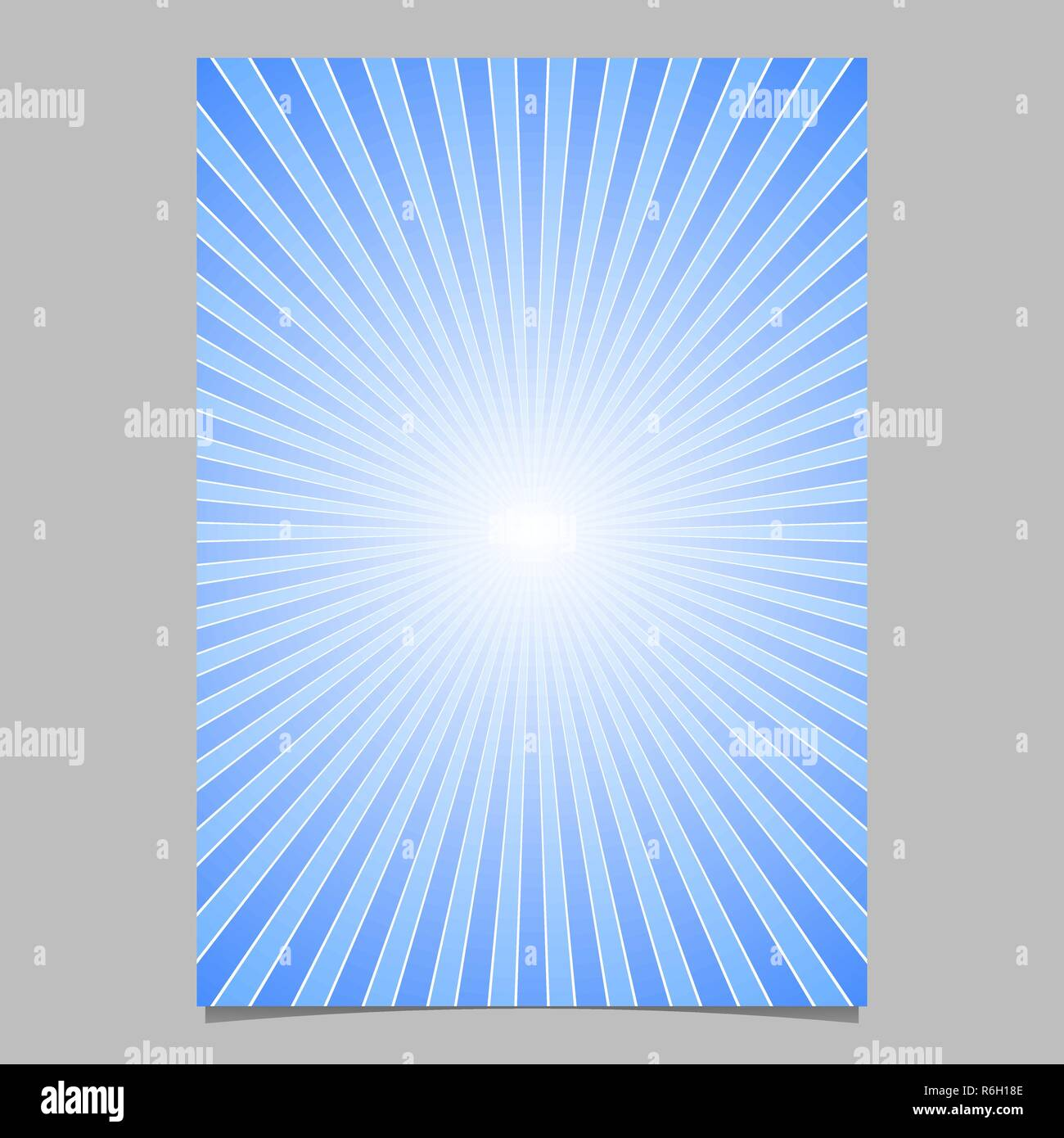 dbf62b2d16 Blue sun burst page template - gradient brochure background design with  striped rays