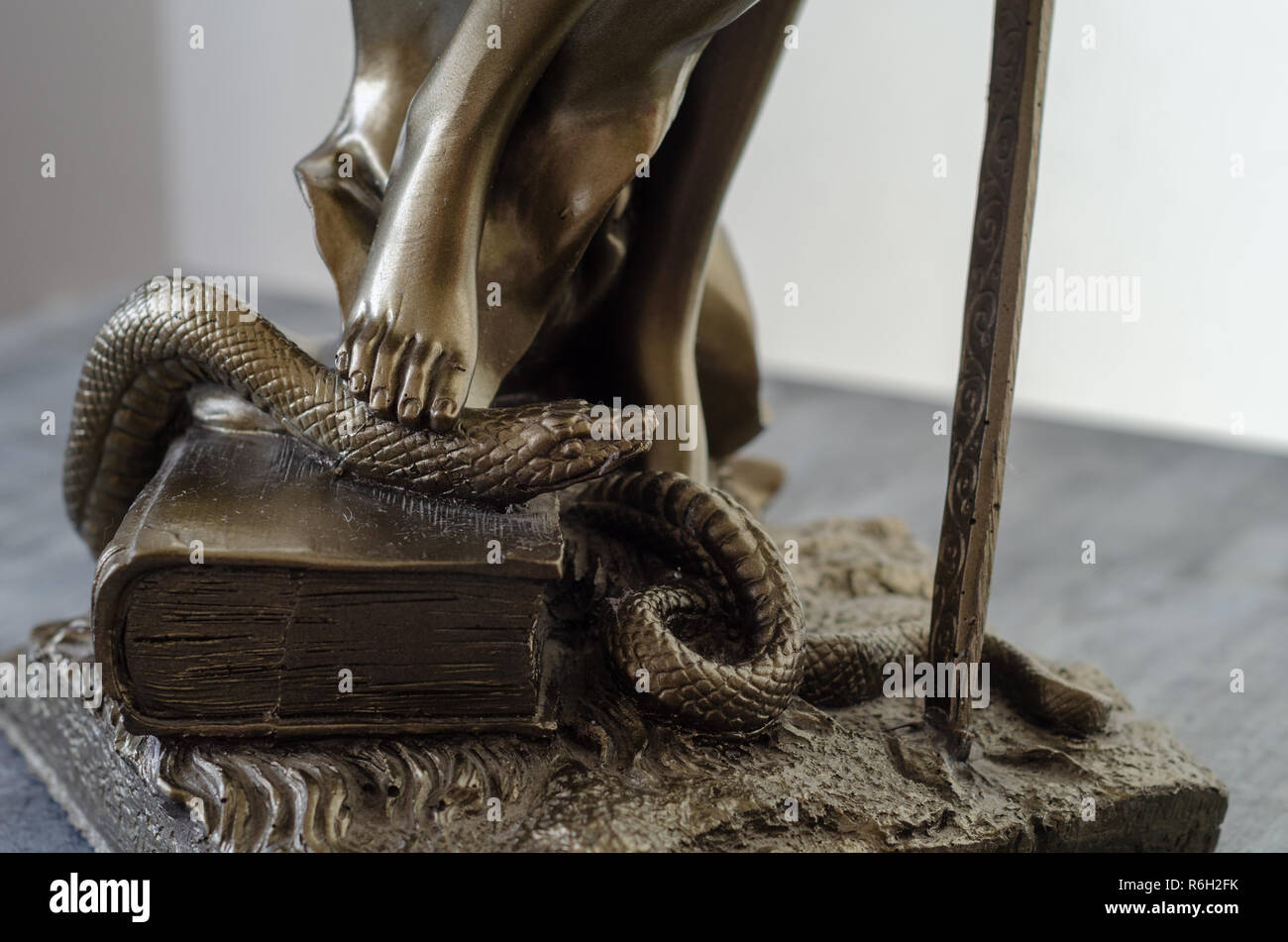 Statue of Themis - goddess of justice.detail. - Stock Image