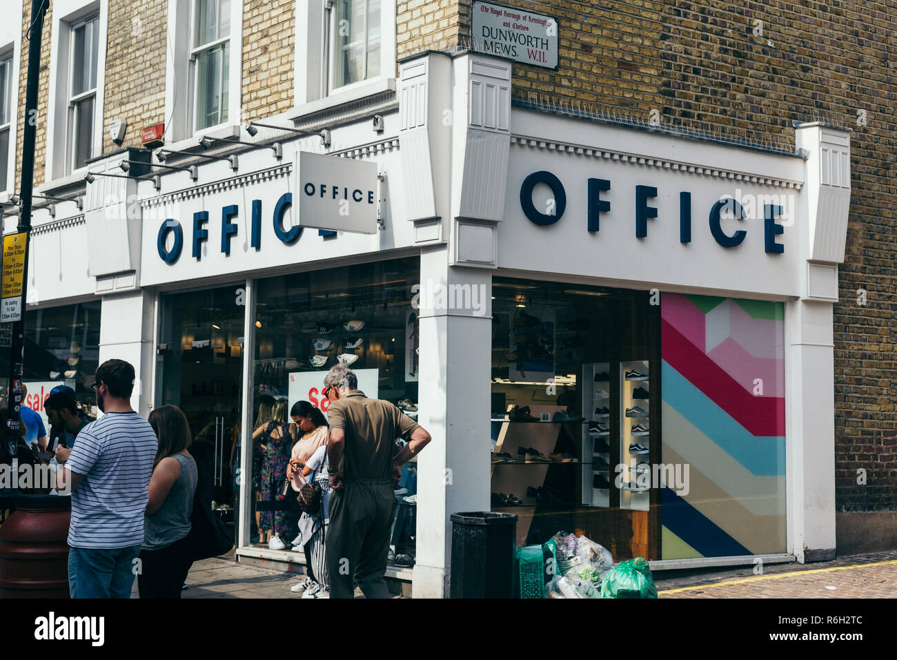0b4c64668caa London UK - July 20 2018  Office shoe store on Portabello Road in London.  Office Holdings is a fashion retailer owned by the South African company