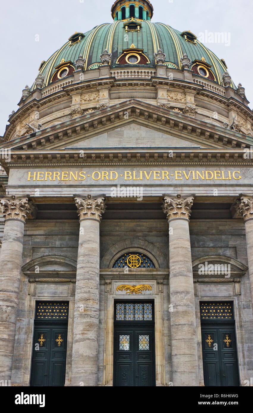 Frederik's Church, known as The Marble Church for its Rococo architecture, Copenhagen, Denmark, Scandinavia - Stock Image