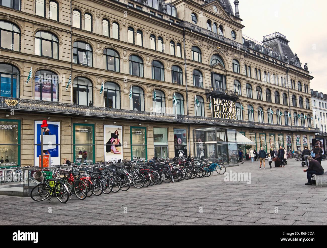 Magasin Du Nord department store, Kongens Nytorv, Copenhagen, Denmark, Scandinavia - Stock Image