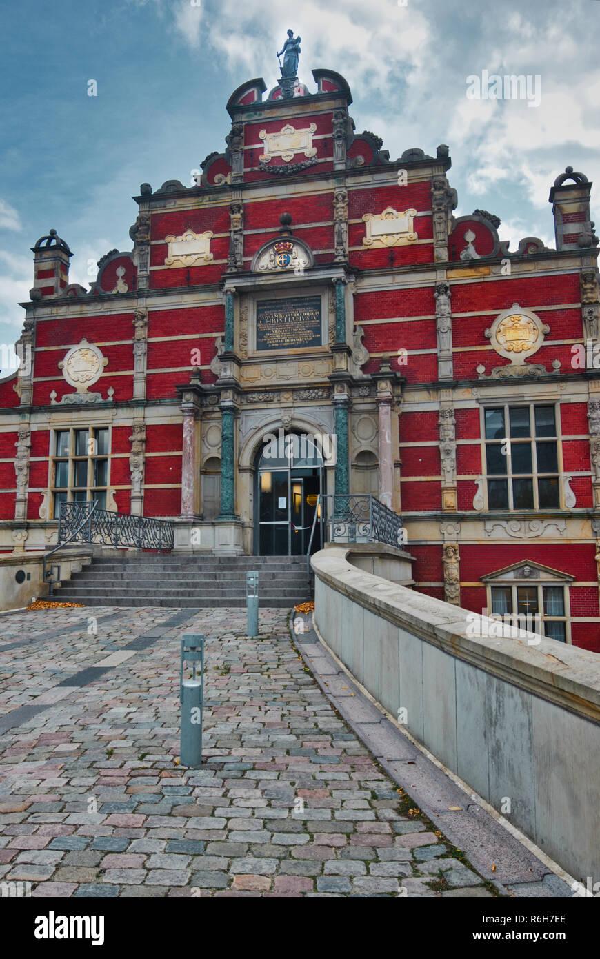 Old Stock Exchange (Borsen), Slotsholmen, Copenhagen, Denmark, Scandinavia - Stock Image