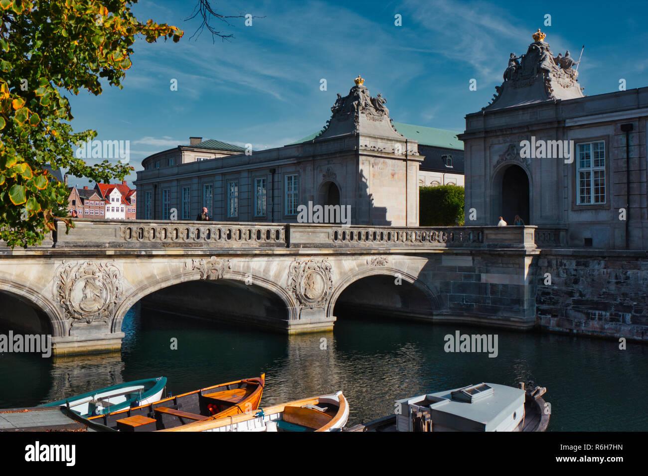 Marble Bridge (Marmorbroen), Copenhagen, Denmark, Scandinavia - Stock Image