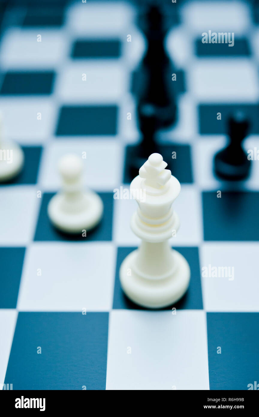 chess kings and pawns - Stock Image