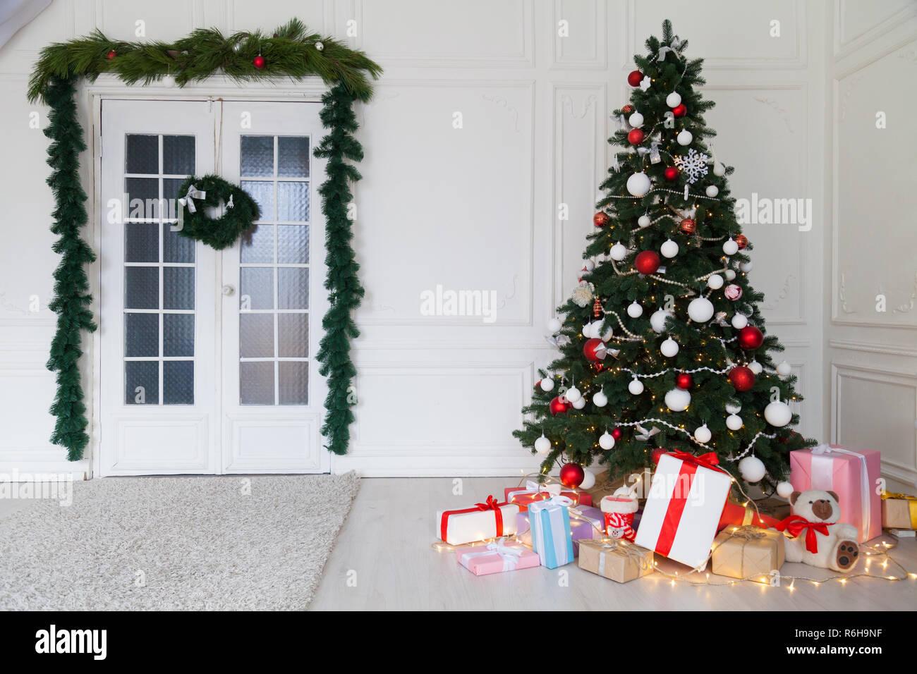 New Year Christmas Tree House Decoration Interior Winter Holiday