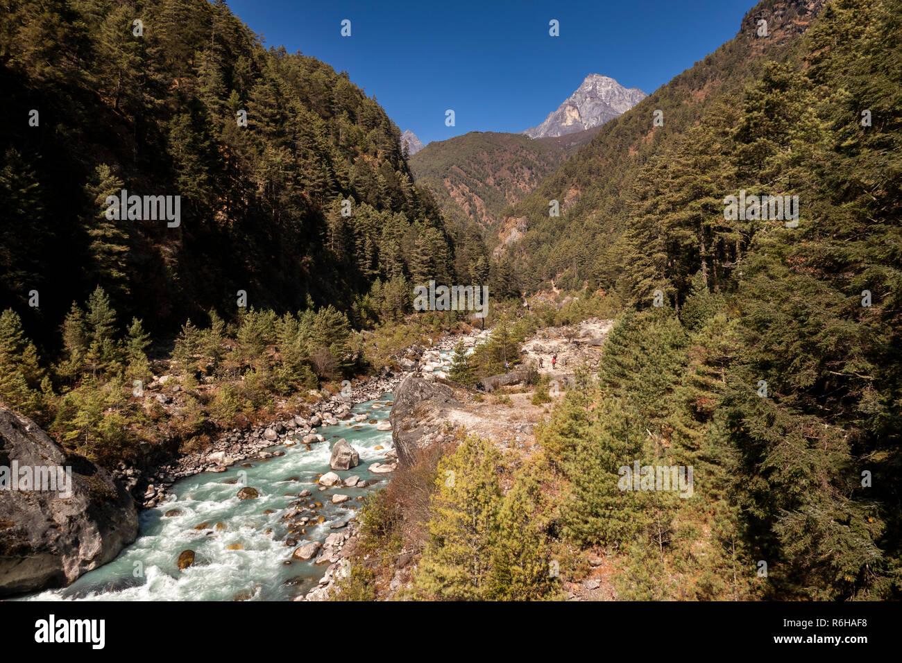 Nepal, Jorsale (Thumbug), Dudh Khosi river - Stock Image