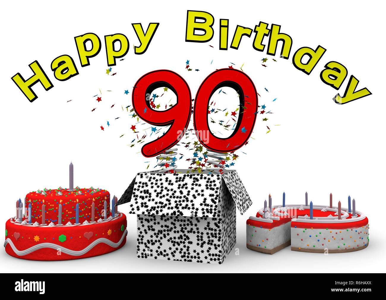 Birthday Cake 90 Year Old Stock Photos