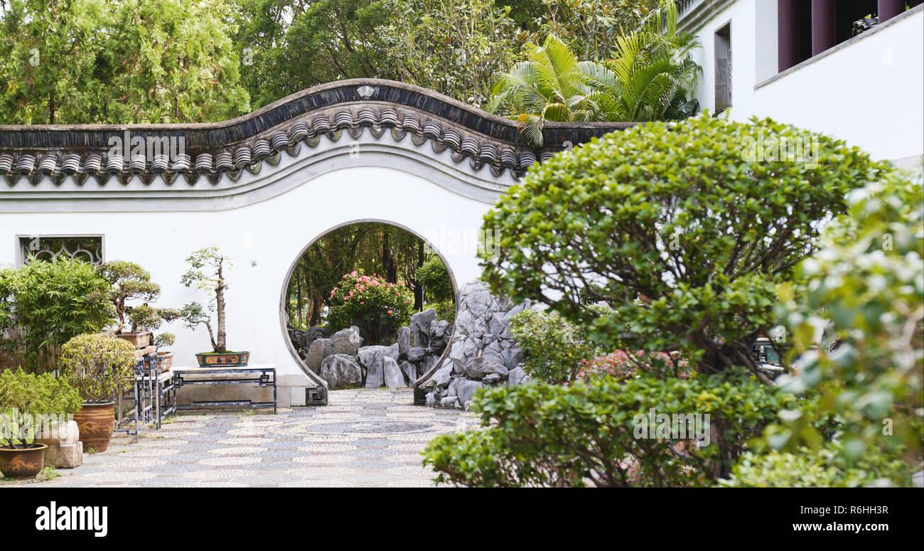 Zen Garden Circular Entrance Stock Photos Zen Garden Circular