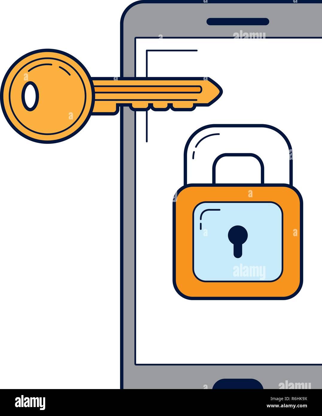 security system cartoon - Stock Image