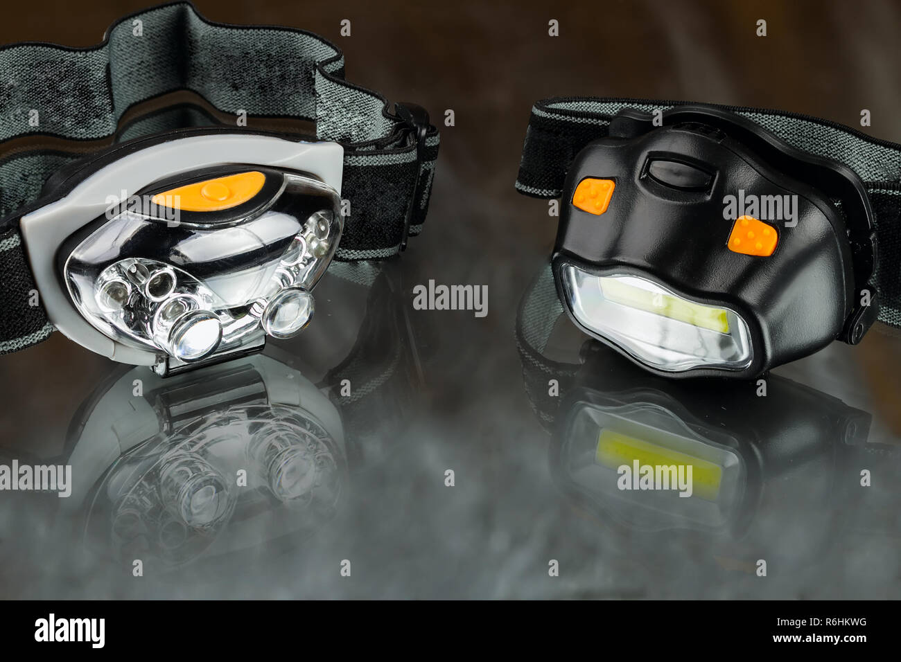 head led lamps - Stock Image