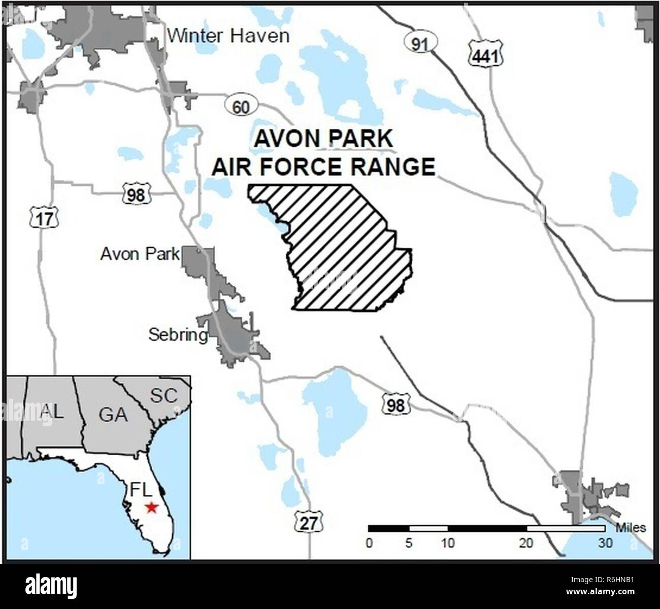 Florida Forest Fire Map.Map Of Avon Park Air Force Range Florida An Air Force Wildland