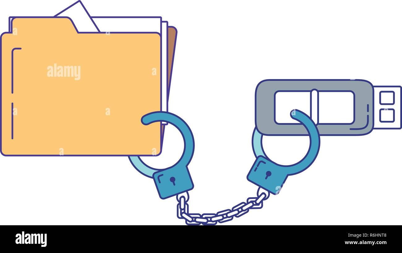security system cartoon Stock Vector
