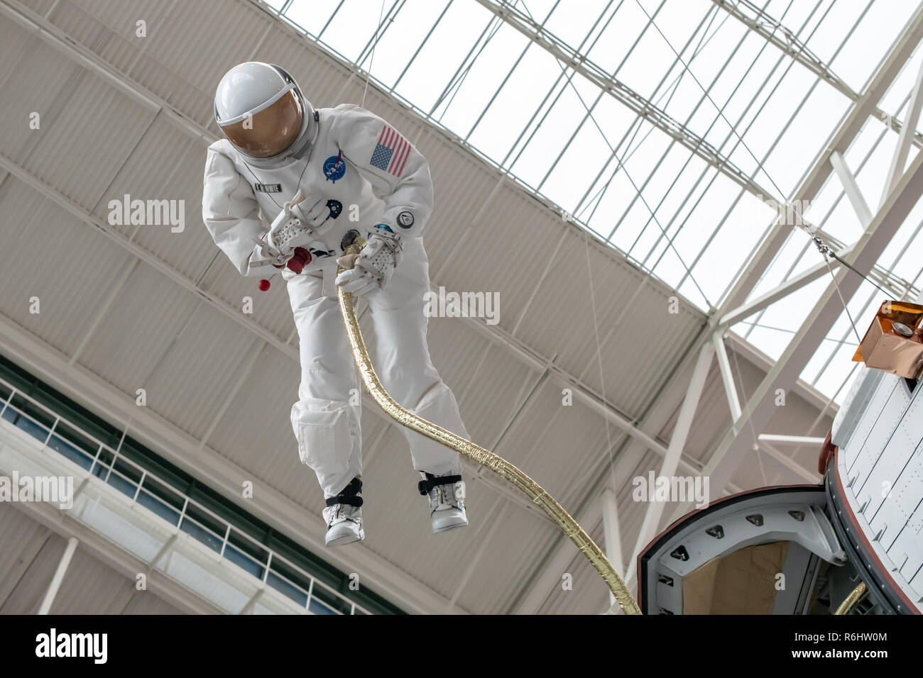 Astronaut E. H. White's NASA spacesuit at Evergreen Aviation & Space Museum in McMinnville, Oregon - Stock Image