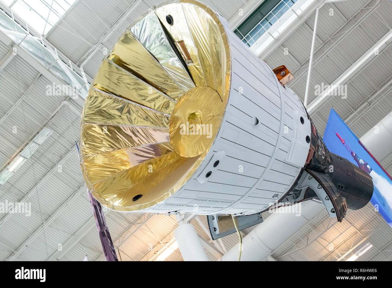 Replica of Gemini Spacecraft at Evergreen Aviation & Space Museum in McMinnville, Oregon - Stock Image