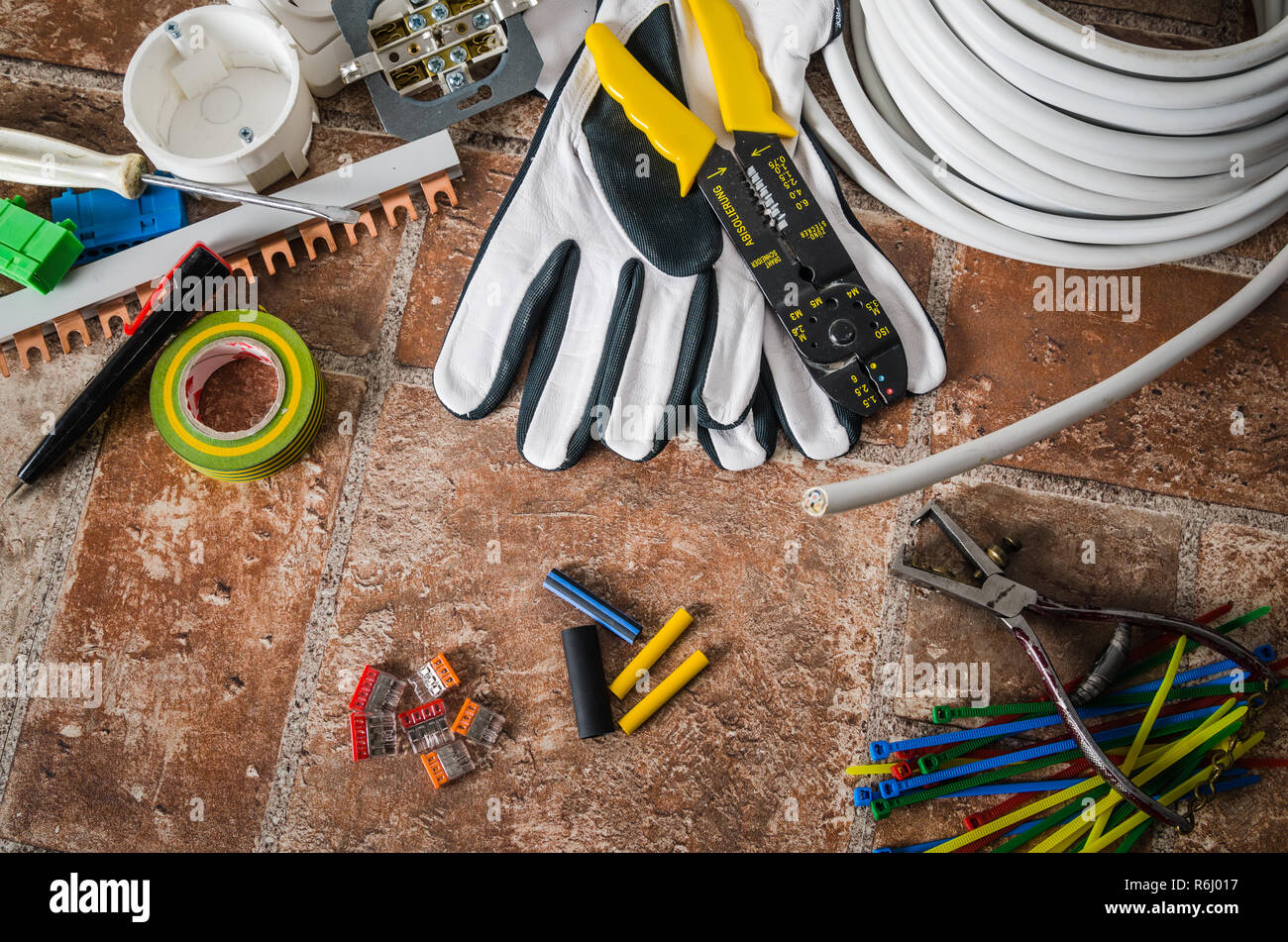 Swell Tools For Electrical Installation Close Up Stock Photo 227817891 Wiring Digital Resources Remcakbiperorg