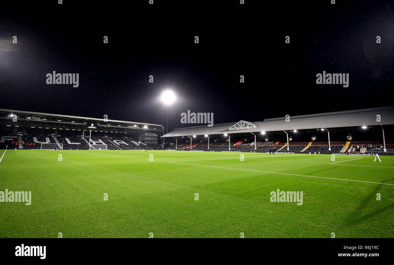 General view of the ground before the Premier League match at Craven Cottage, London. - Stock Image