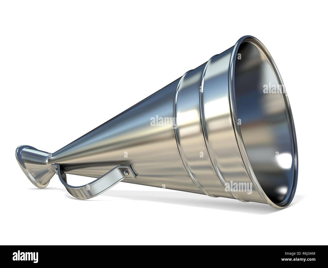 Retro old style megaphone 3D - Stock Image