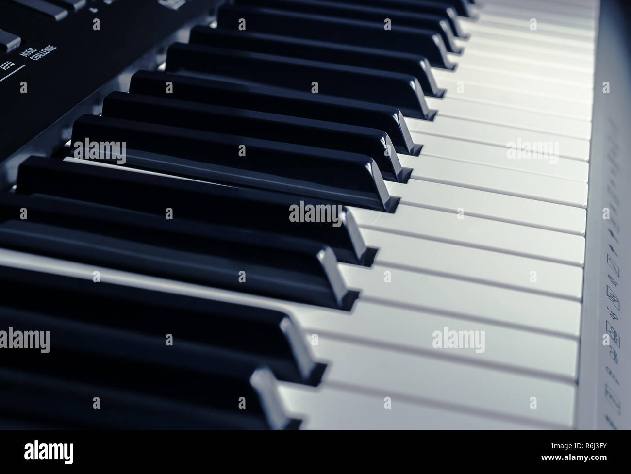 Photo of synthesizer buttons close up - Stock Image