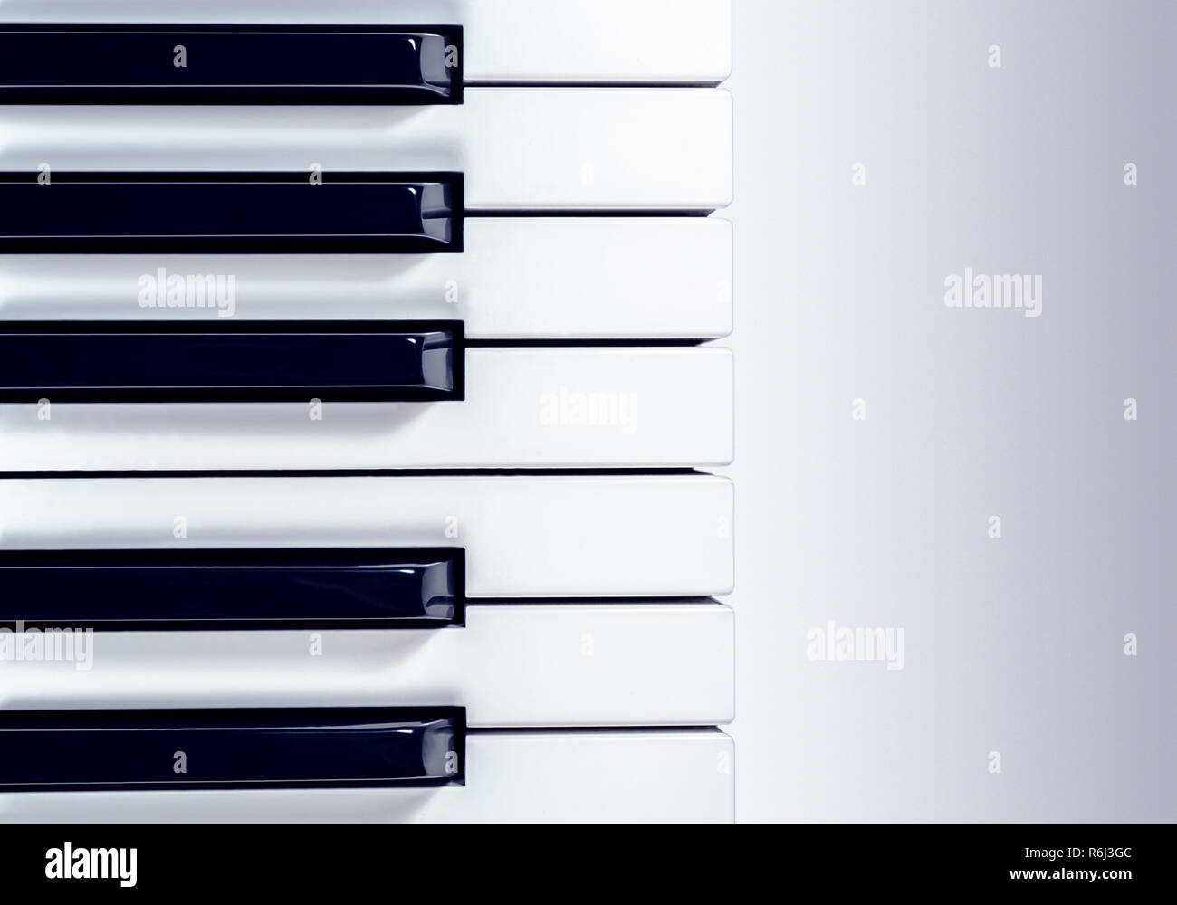 synthesizer keyboard isolated on a gradient gray background - Stock Image
